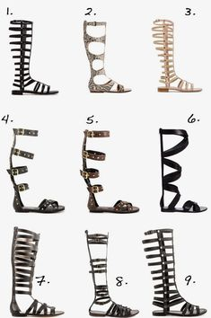 Top Knee High Gladiator Sandals