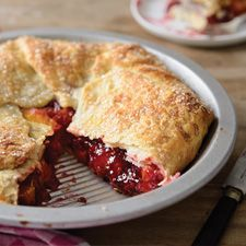 Rustic Raspberry-Peach Pie: King Arthur Flour  Super duper easy pie, works well with many combinations of either fresh or frozen fruit. I use Clear-Jel and don't bother draining the frozen fruit.