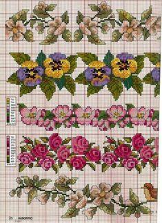 Cross Stitch Pillow, Cross Stitch Borders, Simple Cross Stitch, Cross Stitch Rose, Cross Stitch Flowers, Cross Stitch Charts, Cross Stitch Designs, Cross Stitching, Cross Stitch Embroidery