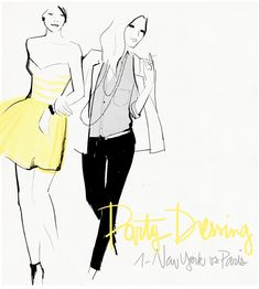 I just love the illustrations by Garance Doré. Always so fun, especially the blog posts that go along with them!