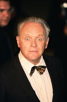 Sir Anthony Hopkins with a Shocked Expression on his Face