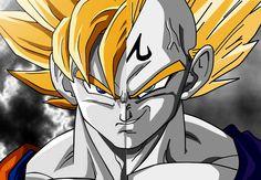 Gogeta Gokú Vegeta Majin Boo Dragon Ball Z DBZ fanart