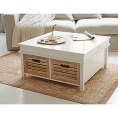 ouchtisch Levi, dieser Couchtisch bietet dank seinen geräumigen Schubladen viel Stauraum und ist zu dem ein schöner Blickfang für Ihr Wohnzimmer.