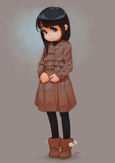 Child with coat by ALKEMANUBIS.deviantart.com on @DeviantArt