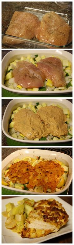 Hummus Crusted Chicken--we've done this with fresh roasted red pepper hummus without the veggies....we are definitely going to try it with the veggies...maybe with butternut squash.