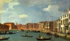 Canaletto Art - View of the Canal of Santa Chiara by Canaletto