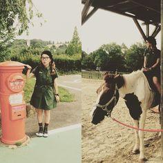 #mulpix タイムスリップしてからのっ❗️ 馬に乗るっ さん ありがとう⤴︎  #牧場 #farm #昭和な ポスト #post #馬 #horse  #自然好き #岡本太郎コンバース #xgirl ワンピ  #suunto #ojaga #ojagadesign #sayhallo  #hystericglamour #ヒステリックグラマー