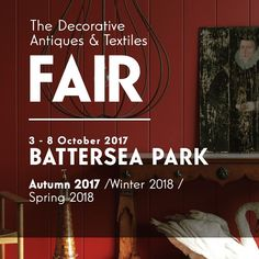 The Decorative Antiques & Textiles fair opens on 3rd October 2017 BATTERSEA PARK LONDON.  InteriorBoutiques.com will be in the Foyer. Join our mailing list and visit us at the fair.  #interiorboutiques #antiques #art #artwork #fineart #InteriorDesign #interiors #design #20thcentury #MidCentury #Industrial #collectables  #sculpture #objects #paintings #textiles #furniture #London #Decorative #antiquesfair #Battersea #BatterseaPark #LondonDesign #decor #homedecor #decorativefair