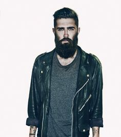 Great beard and leather jacket Chris John millington fashion men tumblr Style streetstyle