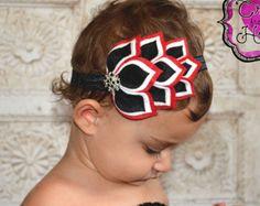 Felt Headband - Spades - 100% USA made felt - Felt Flower Headband - Headbands for Girls - Flower Crown - Felt Crown Headband - Unique
