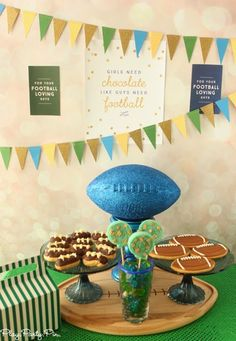 Play. Party. Pin.: Chocolate and Football Party Ideas Glitter football by @FizzyParty