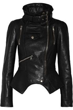 Alexander McQueen|Textured-leather biker jacket- Love!!!