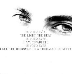 Peter Gabriel - In your eyes #Lyrics  Esta estrofa la llevo tatuada en el alma.../ This verse I have tattooed on my soul