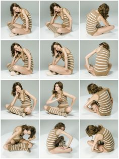 A study of body postures.  We can do this with my movable photo studio. #BodyArtFemalePhotography
