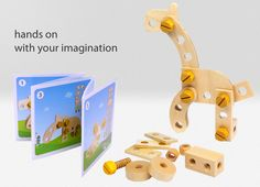 What little boy wouldn't love this - nuts and bolts and wood... fun!