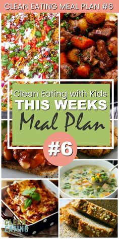 Eating Weekly Family Meal Plan This Weeks Clean Eating with Kids Meal Plan takes meal planning to the next level!This Weeks Clean Eating with Kids Meal Plan takes meal planning to the next level! Clean Eating Kids, Clean Eating Diet Plan, Clean Eating Vegetarian, Clean Eating Recipes For Dinner, Healthy Eating Recipes, Clean Recipes, Eating Habits, Free Recipes, Keto Recipes