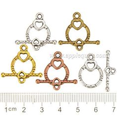 Zinc Alloy OT Clasps,Heart,Plated,Cadmium And Lead Free,Various Color For Choice,Approx 20*14*2mm,Bar:Approx 7*23*2mm,Hole:Approx 1.5mm,Sold By Bags,No 000825