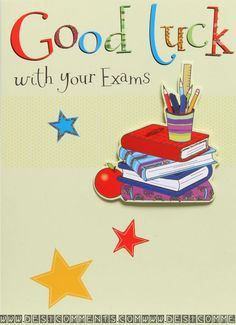 30 Best Good Luck Exams Images Good Luck Cards Good Luck For