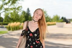 Floral Dress and Choker