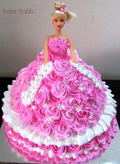 Massive Barbie Торт Ко Дню Рождения Девочки, С Днем Рождения, Техники Украшения Торта, Торты На День Рождения Девочки, Золотой Торт, Платье Торт