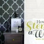 how to stencil a wall and other DIYs