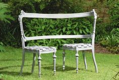 Fascinating aluminium bench design. I think Jack could do something similar with 2 old wood chairs. Of course, he does work with  aluminium