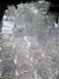 vintage crystal dish rentals