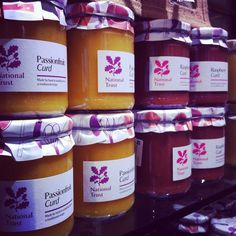 Jams, curds and chutneys for sale in the shop. #nationaltrust #devon #saltram #ntretail