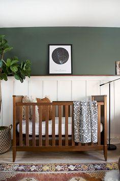 Modern and Vintage Boy's Nursery Reveal #Kidsroomdesign