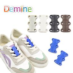 1cb2d4ea8359 Demine Strong Quick Easy Magnetic Shoelaces For Sneakers Shoes Buckles  Closure No Tie Shoelace Buckle