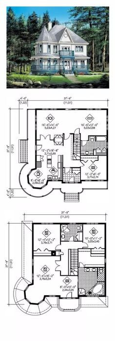 Victorian house colors ideas 2 - Reorganize the nursery. Master wic to the kids and master reading corners in wic Victorian house co - Sims House Plans, Dream House Plans, House Floor Plans, My Dream Home, Dream Homes, Victorian House Plans, Victorian Homes, Victorian Farmhouse, Victorian Cottage