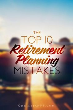 The folks from over at MoneyTips recently did a survey of over 500 retirees. They asked them what their biggest mistakes were when planning and saving for retirement. Here are the Top 10 #Retirement Planning Mistakes we can all learn from!