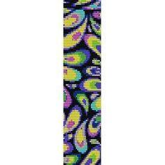 Loom Bead Patterns | EYES OF PEACOCK - LOOM beading pattern for cuff bracelet (buy any 2 ...