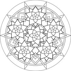 Rose Mandala, Free Printable Mandala Coloring Pages, Flower Mandala Black and White Template, lineart, mandala, printables, cool teen crafts