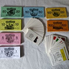 Disney Pixar Monopoly Replacement Money Deeds Piston Cup and Bon Apetit Cards #Hasbro #Replacementpieces