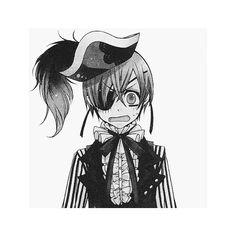 myedit smile kuroshitsuji ciel phantomhive black butler noahs ark... ❤ liked on Polyvore featuring anime, black butler, manga, drawings and filler