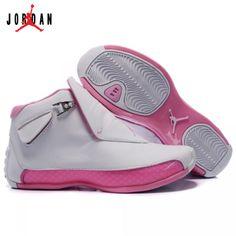 size 40 85b77 85486 313038-162 Air Jordan 18 Original OG White Women Pink A24015,Jordan-Jordan