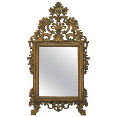 Northern Italian Giltwood Mirror | From a unique collection of antique and modern wall mirrors at https://www.1stdibs.com/furniture/mirrors/wall-mirrors/