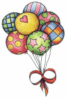 Special Balloons for You Doodle Art, Birthday Greetings, Happy Birthday, Decoupage, Birthday Clips, Pintura Country, Cute Clipart, Rock Art, Painted Rocks