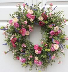 Your place to buy and sell all things handmade, Garden Meadow Wreath-Spring Wreath-Spring Door Wreath-Summer Wreaths-Easter Wreath-Cottage Chic Wreath-Designer Wreath-Wedding Wreaths. Summer Door Wreaths, Easter Wreaths, Wreaths For Front Door, Christmas Wreaths, Diy Decorations To Make, How To Make Wreaths, Deco Floral, Arte Floral, Wedding Wreaths