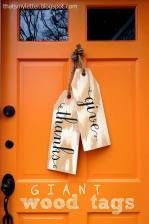 Giant Wood Tags | Curb Appeal Front Door Ideas For Fall