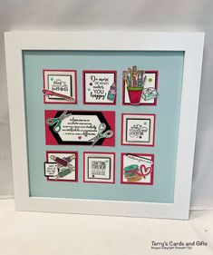 Paper Wall Art, Helping Others, Are You Happy, Stampin Up, Frame, Cards, Gifts, Ideas, Picture Frame