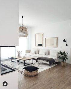 Boho Living Room, Living Room Interior, Home Interior Design, Living Room Decor, Living Spaces, Small Living, Modern Living, Modern Room, Natural Living Rooms