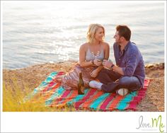 engagement photo at lake grapevine. So peaceful looking!
