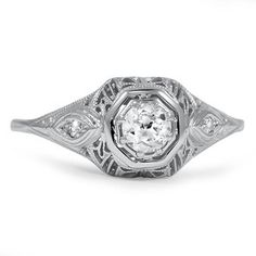 The Bazyli Ring #BrilliantEarth #Vintage