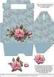 Gable-top Box - Pink Roses