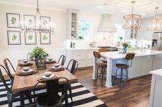 Remodelaholic | Get This Look: The Fixer Upper Chip 2.0 Kitchen and Dining Spaces