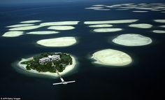 The World is sinking: Dubai islands 'falling into the sea' - But the World, the ambitiously-constructed archipelago of islands shaped like the countries of the globe, is sinking back into the sea, according to evidence cited before a property tribunal. Dubai Islands, Dubai World, Future Trends, Love Island, Most Beautiful Cities, Exotic Cars, Geography, Places To Visit, Around The Worlds