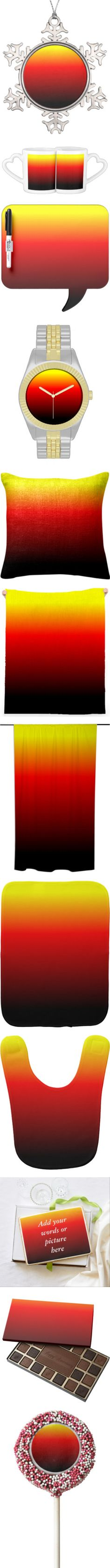 """My """"OMBRE SUNSET"""" #1 Collection For Sale by artist4god-rose-santuci-sofranko on Polyvore featuring polyvore, home, home decor, holiday decorations, decor, holiday, ornament, holiday ornaments, holiday decor, holiday home decor, fashion, jewelry, watches, ombre jewelry, sun, sunset, necklaces, bib necklace, bib jewelry, ombre necklace, accessories, hats, pewter ornaments, holiday tree skirts, bracelets, ombre bracelet, bracelet bangle, bracelet jewelry, hair accessories, scarves, ombre…"""