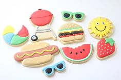 Summertime BBQ Cookies 2 dozen by CookieConfectionery on Etsy, $85.00